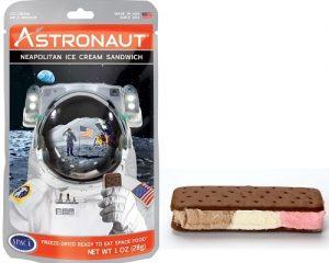 Freeze Dried Neapolitan Astronaut Ice Cream Sandwich