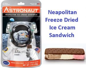 Freeze Dried Neapolitan Astronaut Ice Cream Sandwich