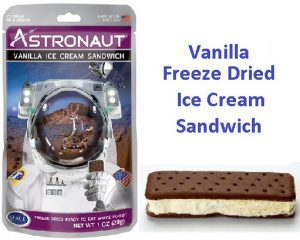 Astronaut Freeze Dried Vanilla Ice Cream Sandwich