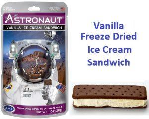 Astronaut Freeze Dried Vanilla Ice Cream Sandwich